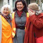 Mayor Samantha MacIntosh, Julie Bradby, BotanKIDS and Lorraine Powell, History Group