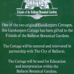 Gatekeepers Cottage signage