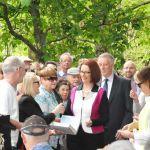 Julia Gillard installation unveiling October 9 Prime Minister Avenue - excitement mounts