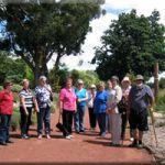 Tour groups in the Ballarat Botanical Gardens
